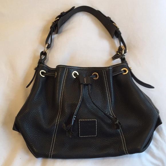 Dooney & Bourke Handbags - Dooney & Bourke leather bucket bag w/ drawstring